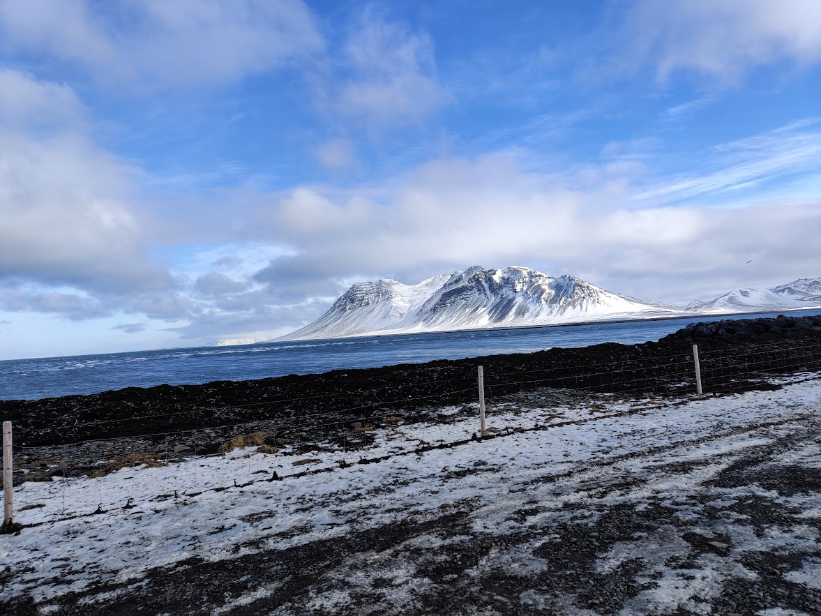 Beautiful landscapes on Iceland road trip ring road